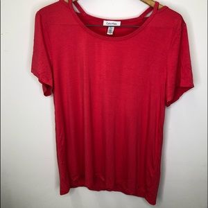 Calvin Klein Cold Shoulder Top Size Large NWT